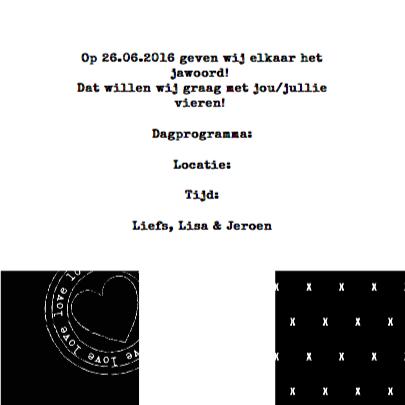 Trouwkaart Black&White 3