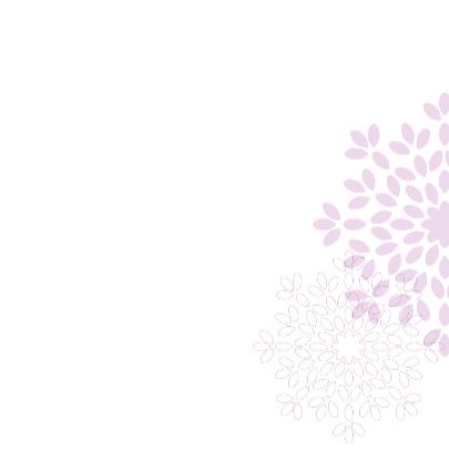Trouwkaart bloem 1 3
