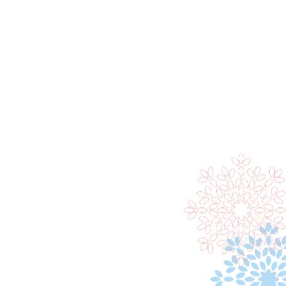 Trouwkaart bloem 3 3