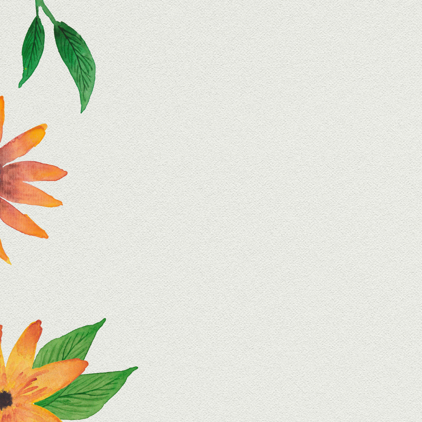 Trouwkaart bloemenkrans - DH 2