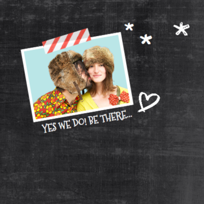 Trouwkaart chalkboard foto strip 2