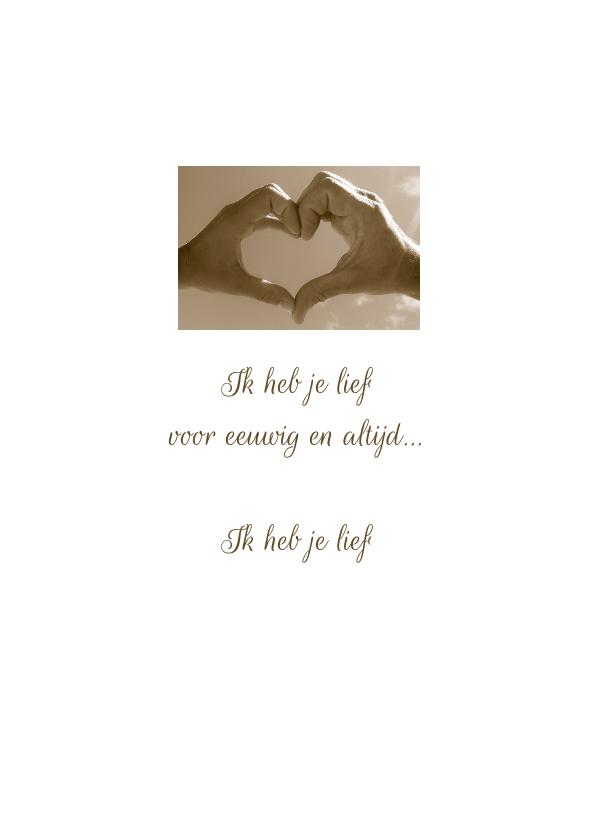 Trouwkaart Collage romantisch 2