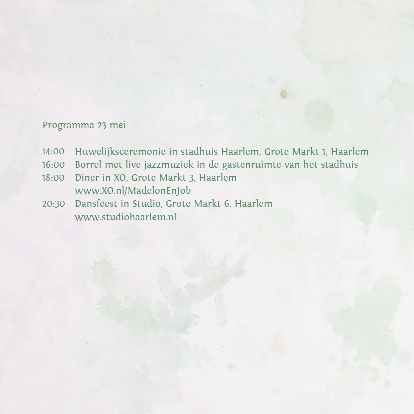 Trouwkaart eigen txt bloemen mix 2