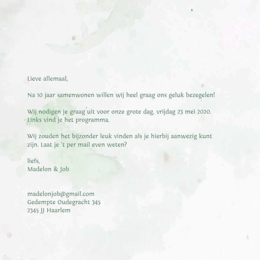 Trouwkaart eigen txt bloemen mix 3