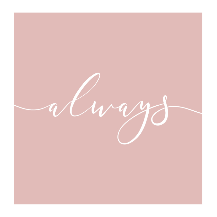 Trouwkaart fotocollage 'Always' 2