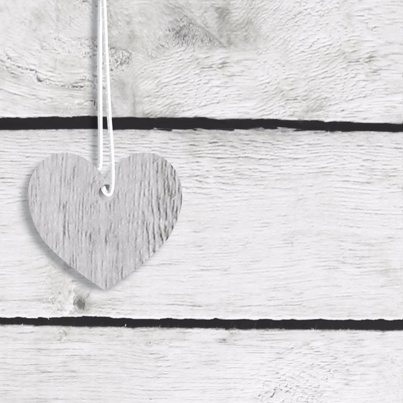 Trouwkaart  Hangende harten 2