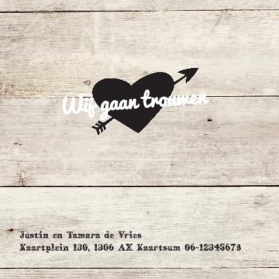 trouwkaart - hout print 2
