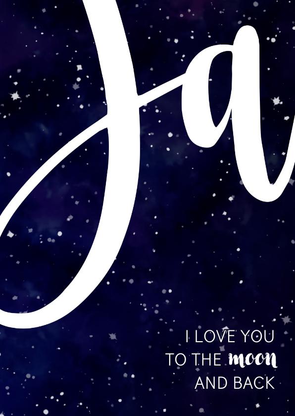Trouwkaart 'JA' Galaxy  2