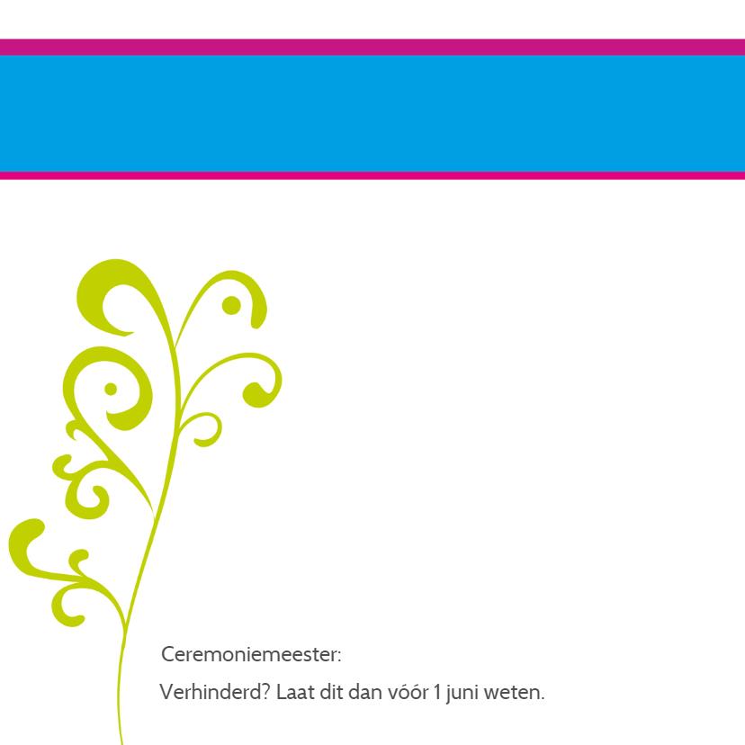 trouwkaart knalkleurtjes - SZ 2