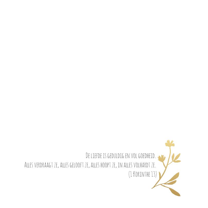 Trouwkaart krans goudlook-HM 2