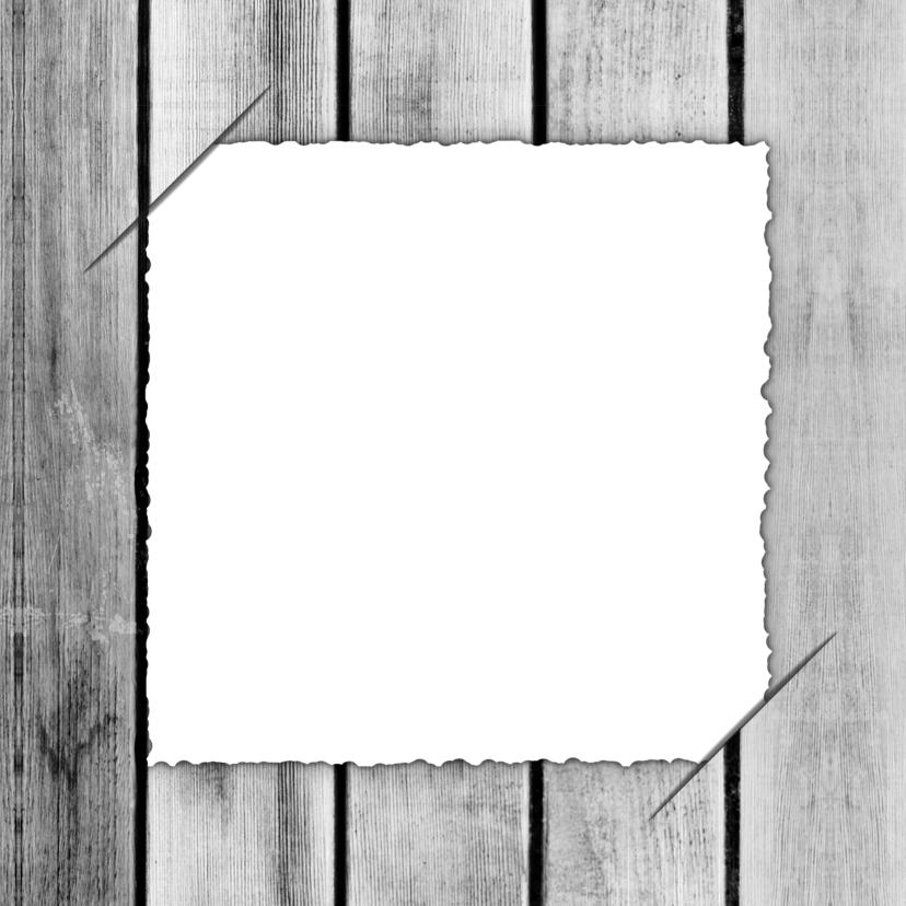 Trouwkaart label hout RB 3