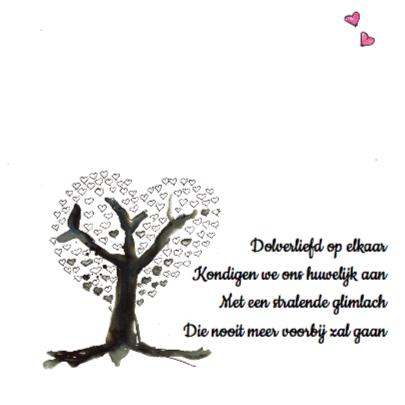 Trouwkaart liefdesboom 2