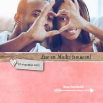 Trouwkaarten - Trouwkaart_LucMaike_SK