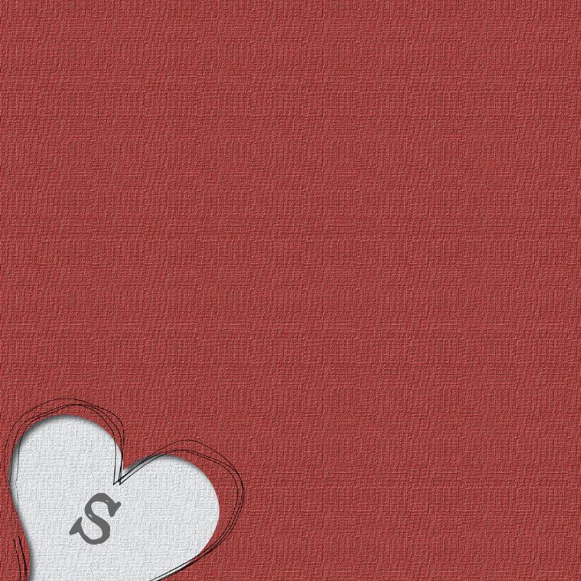 trouwkaart met 2 harten 2