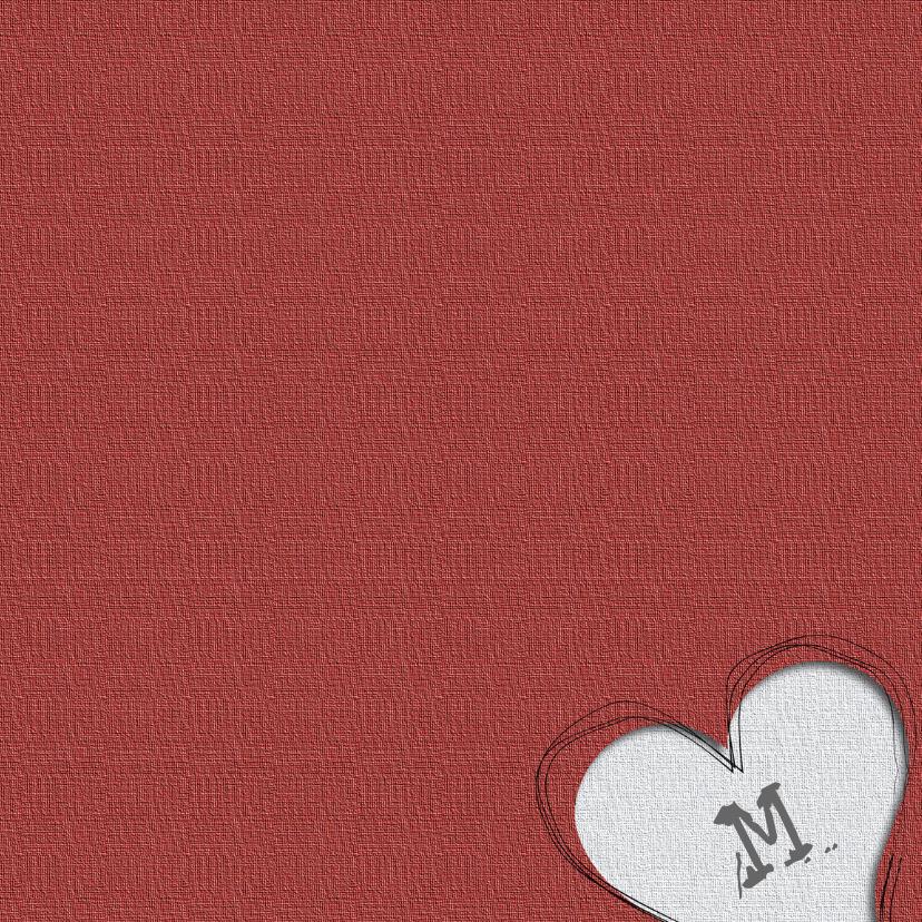 trouwkaart met 2 harten 3