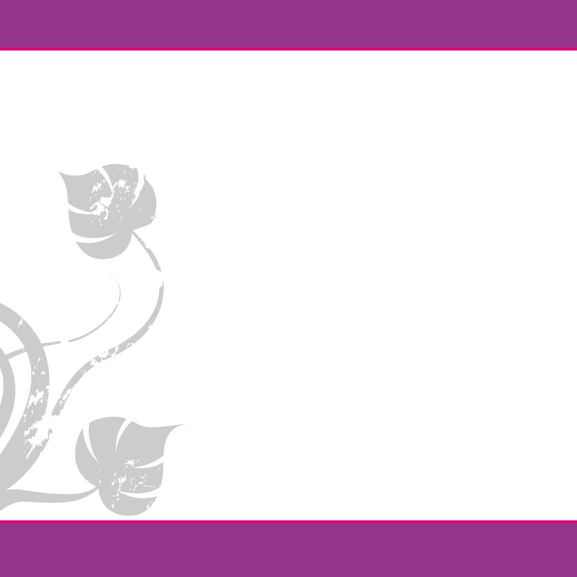 trouwkaart met foto paars-SZ 2