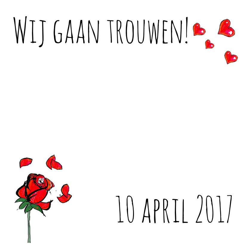 trouwkaart met hartjes roosjes 2