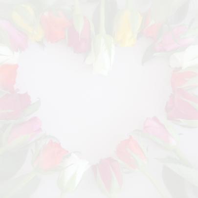 Trouwkaart met rozenhartje 2