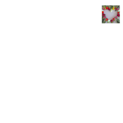 Trouwkaart met rozenhartje 3