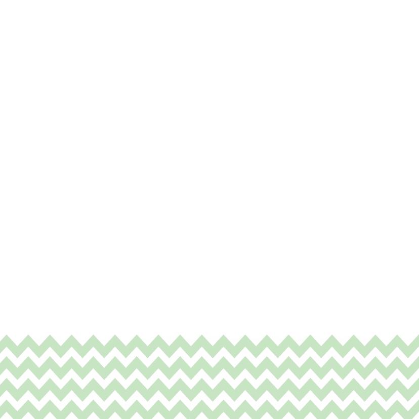 Trouwkaart Mint Zigzag - WW 3