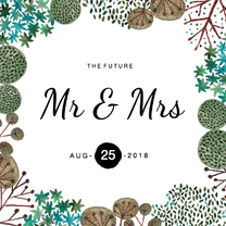 Trouwkaarten - Trouwkaart Mr & Mrs Rustic