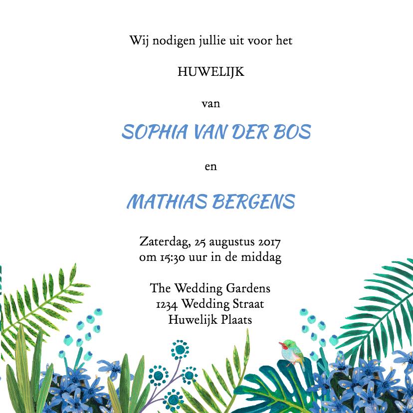Trouwkaart Mr & Mrs Tropisch 3