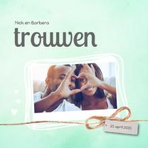 Trouwkaarten - Trouwkaart_Nick_Barbera_SK