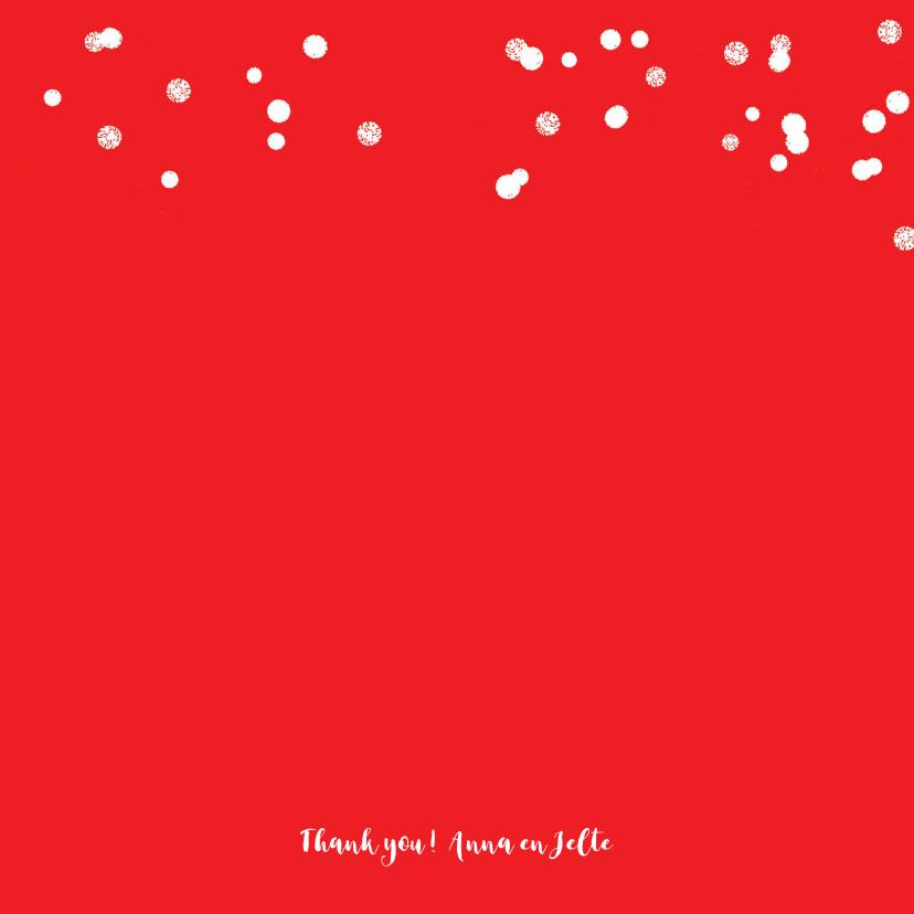 Trouwkaart of bedankkaart fotocollage hart rood 3