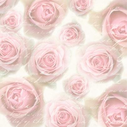 Trouwkaart Pink Roses Vintage 2