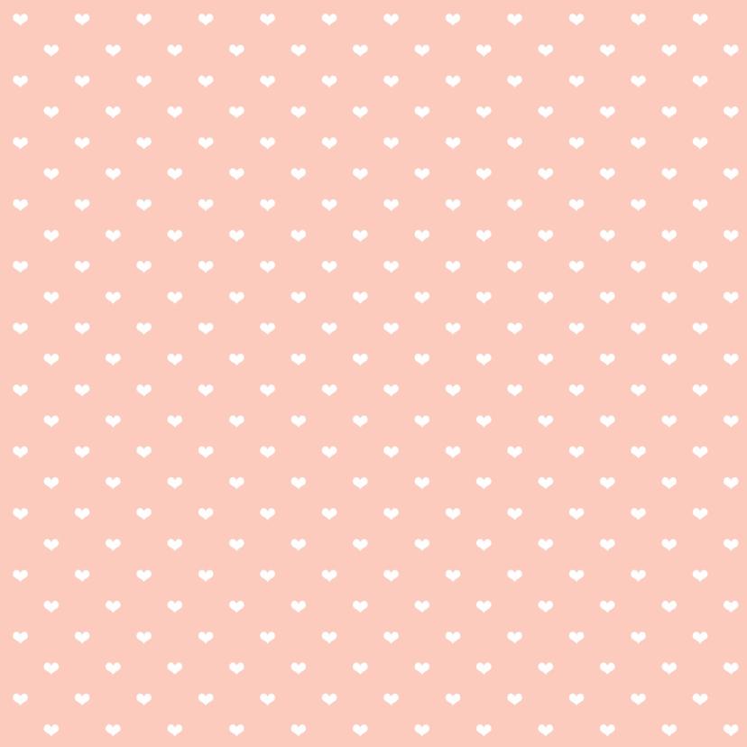 Trouwkaart roze hart - WW 2