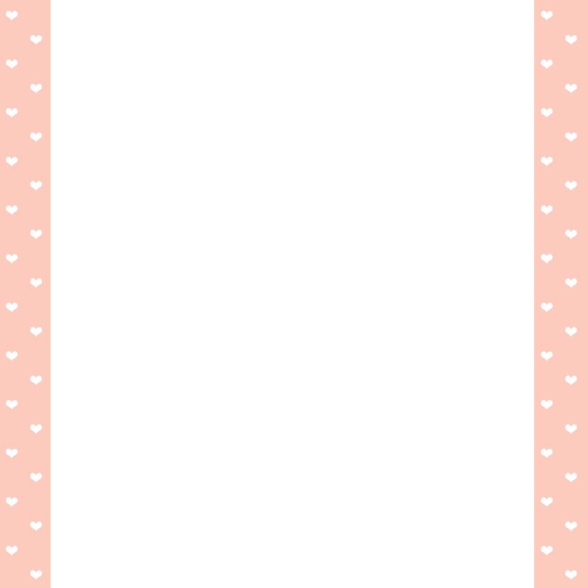 Trouwkaart roze hart - WW 3