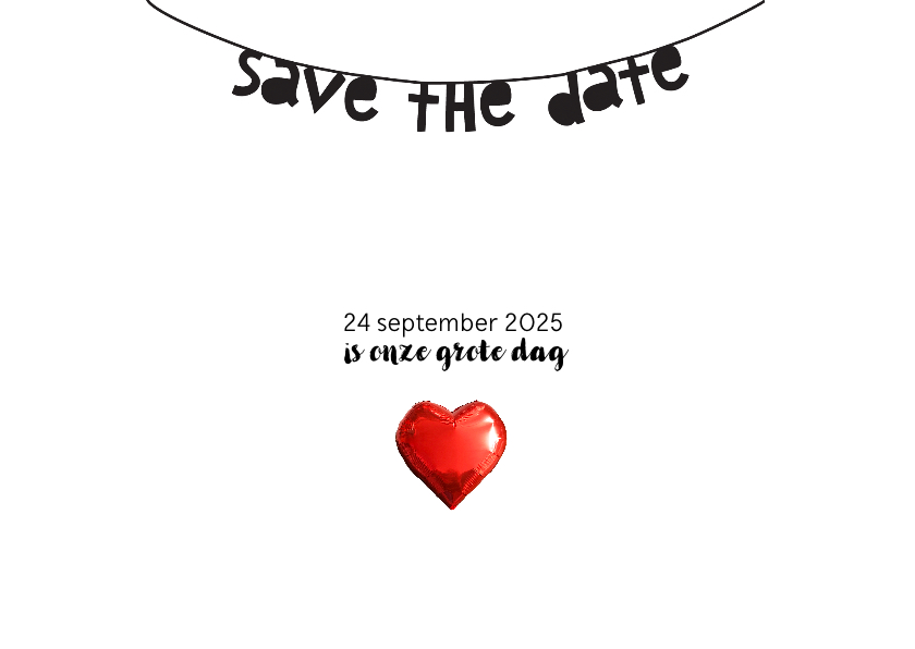 Trouwkaart save the date collage Yes 3