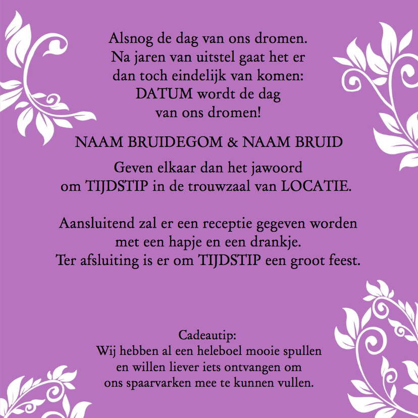 Trouwkaart Save the Date - HE 3