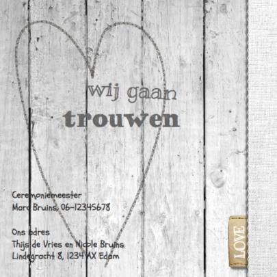 Trouwkaart Steigerhout 2