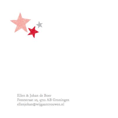 Trouwkaart sterren in hart 2
