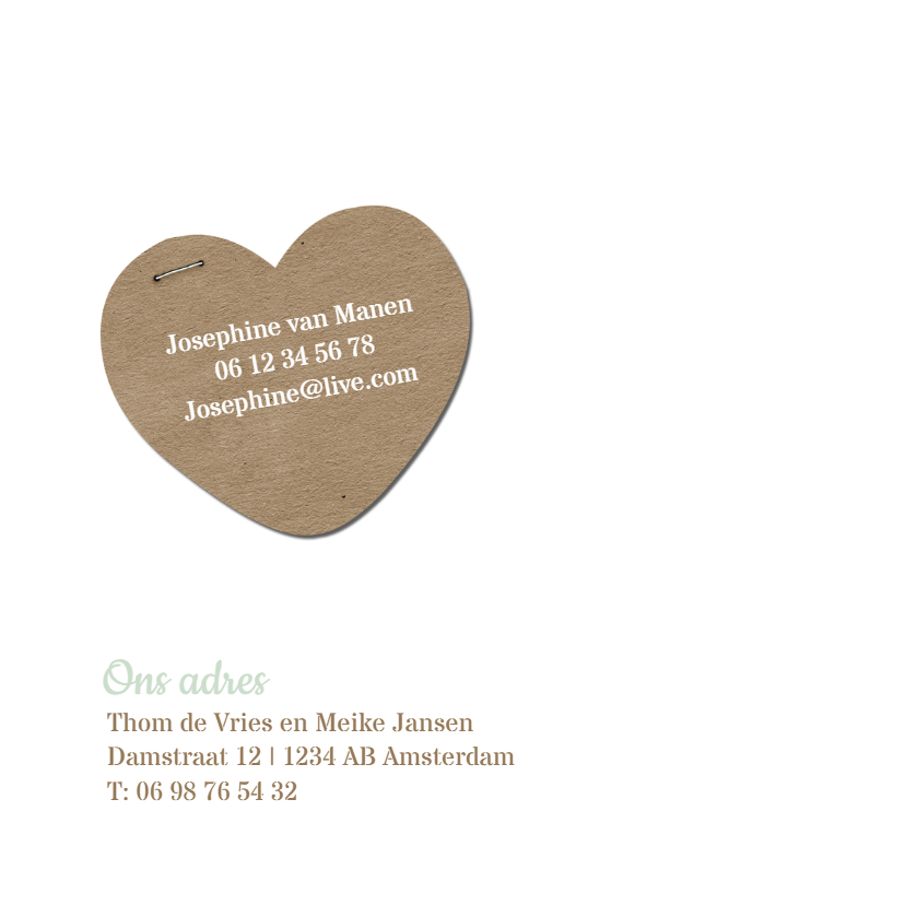 Trouwkaart strepen groen 2