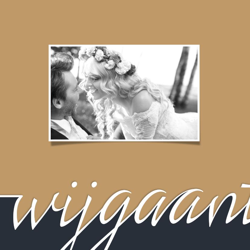Trouwkaart Typografie en foto  2
