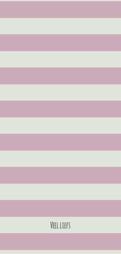 Trouwkaart veldbloemen roze achterkant