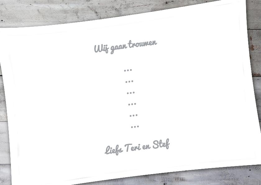 Trouwkaart Wij gaan trouwen - BK 3