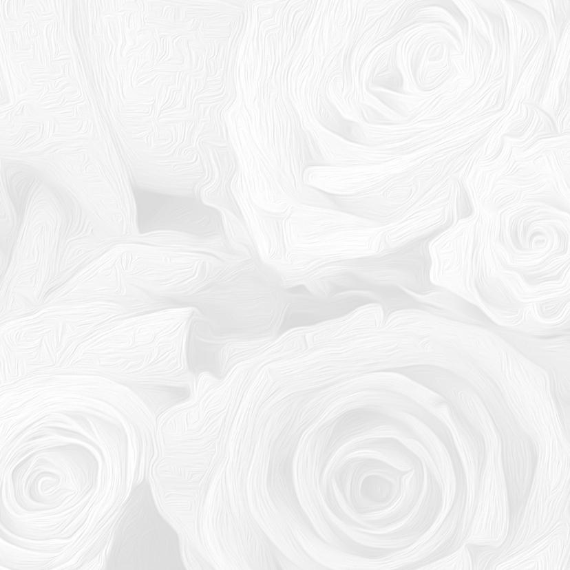 Trouwkaart witte rozen en lint 2
