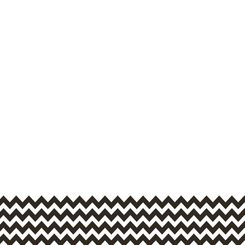 Trouwkaart ZwartWit zigzag - WW 3