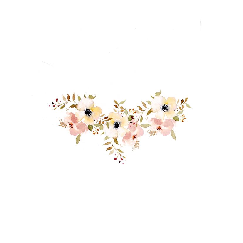 Trouwkaarten Aquarel bloemen YO 2