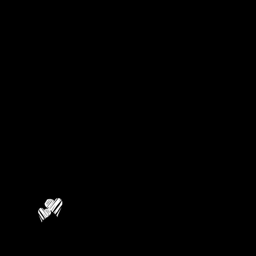 Trouwkaarten Witte hartjes Y 2
