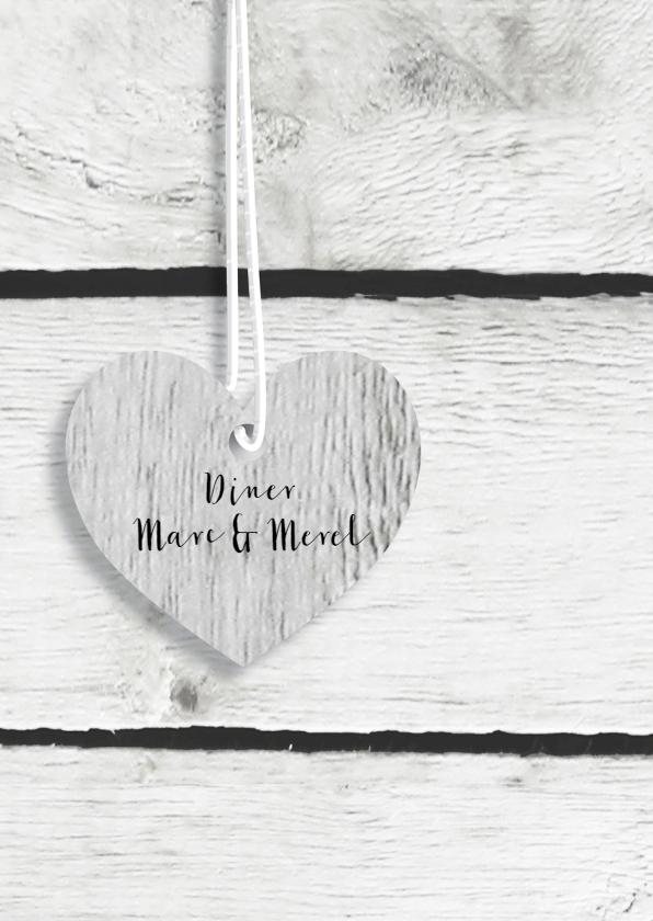 Trouwmenu harten hout 2