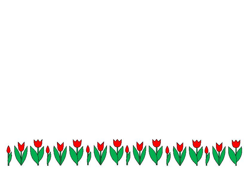 Tulp en groei in rij - AW 3