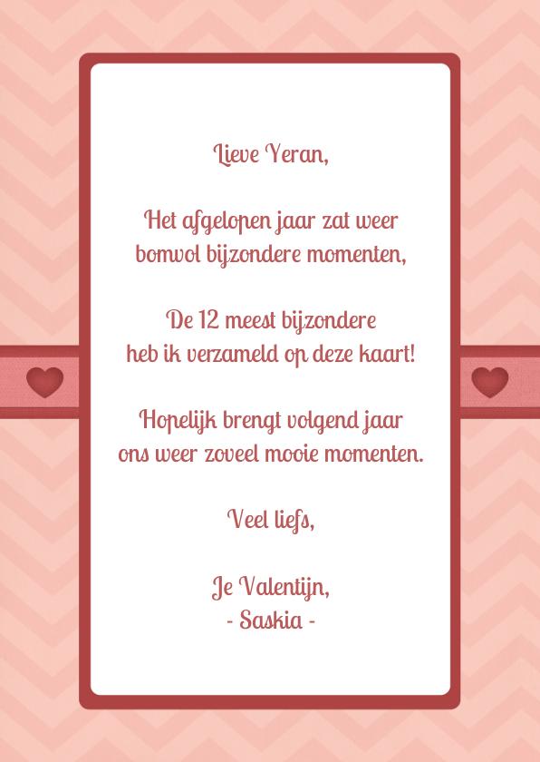 Twaalf maanden kaart - Valentijn 3