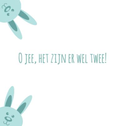Twee blauwe konijnen - DH 2