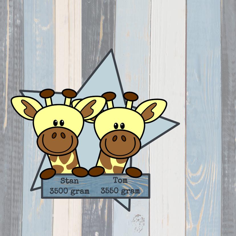 tweeling jongens stoer giraf 2