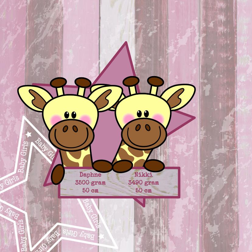 tweeling meisjes stoer giraf 2