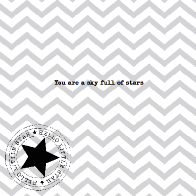 Twinkle Star Black&White 2